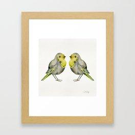 Little Yellow Birds Framed Art Print