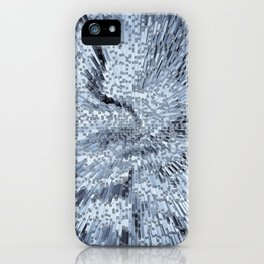 Blue Digital art Abstract iPhone Case