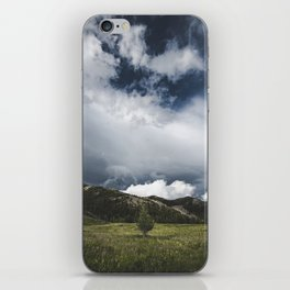 Landsape Waterton Meadow and Rolling Hills   Nature   Skyscape Clouds iPhone Skin
