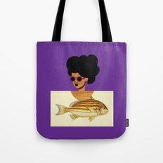 Postcard Fashion in Purple Tote Bag