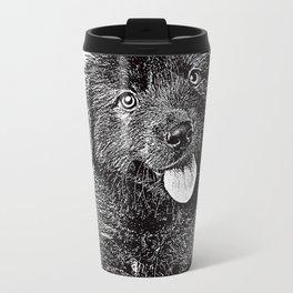 Cute fluffy puppy Travel Mug