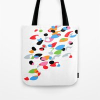 swimming Tote Bags featuring Swimming by Nicki Traikos