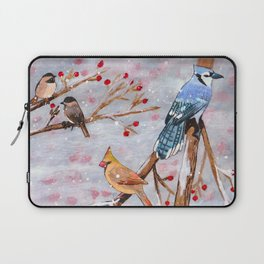 Birds in winter Laptop Sleeve
