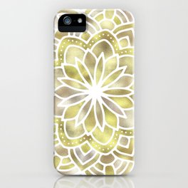 Mandala Multi Metal Yellow Gold iPhone Case