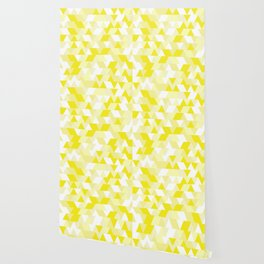 Simple Geometric Triangle Pattern - White on Yellow - Mix & Match with Simplicity of life Wallpaper