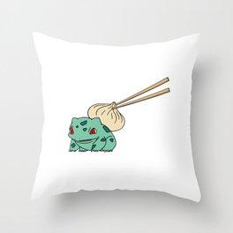 Bao-Basaur Throw Pillow