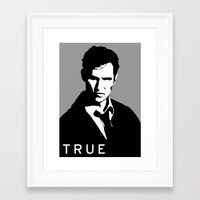 true detective Framed Art Prints featuring True Detective by Green'n'Black