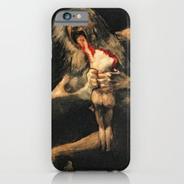 Saturn Devouring His Son Goya Painting iPhone Case