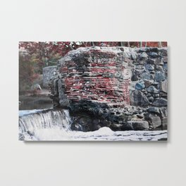Mission Dam in the Fall Metal Print