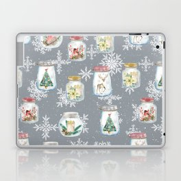 Christmas Jars Grey Laptop & iPad Skin