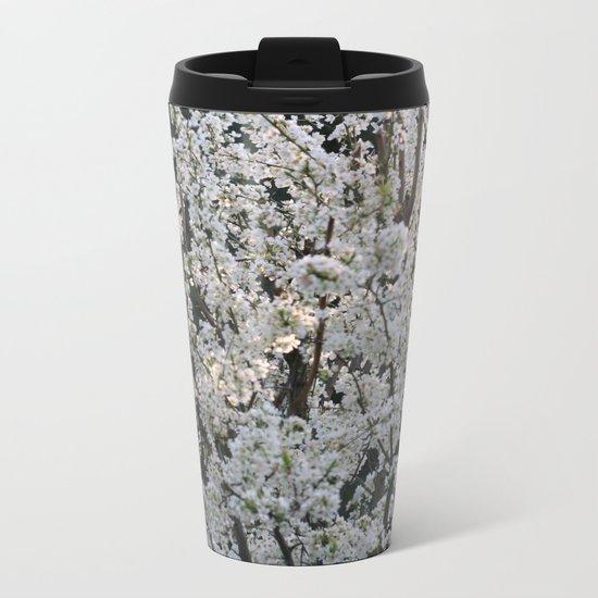 Plum in bloom Metal Travel Mug