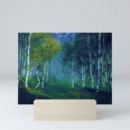 White Birch Forest, New England Landscape Mini Art Print