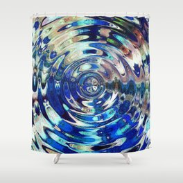 Water Element Ripple Pattern Shower Curtain
