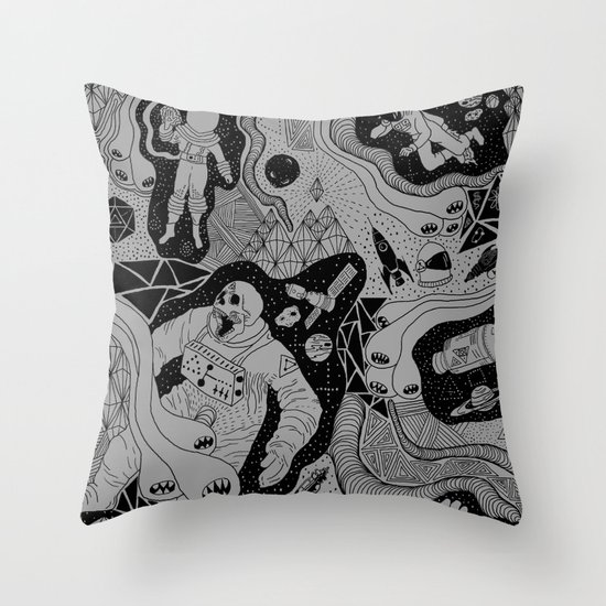 Cosmic Atomic  Throw Pillow