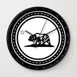 CALI WHITE Wall Clock