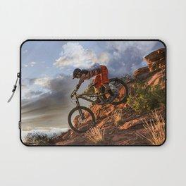 Mountain Bike in Rugged Mountain Terrain in Sunbeams Laptop Sleeve