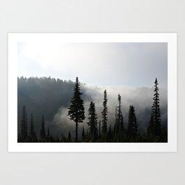 Morning Mist on the Mountain Art Print