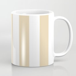 Durian White pink - solid color - white vertical lines pattern Coffee Mug