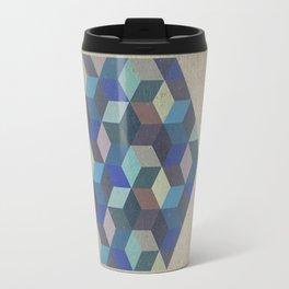 Dimension in blue Travel Mug