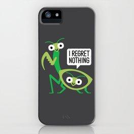 When a Mantis Loves a Woman iPhone Case