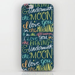 I LOVE YOU IN THE MORNING (color) iPhone Skin