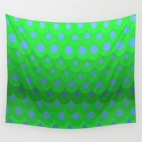 scales Wall Tapestries featuring Scales by Miss Meow