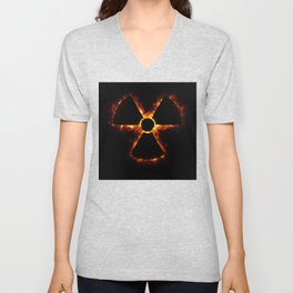 Nuclear Icon in Fire Unisex V-Neck