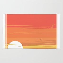 Sun Set at the Beach Rug