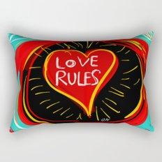 Love Rules Street Art Graffiti Pop Rectangular Pillow
