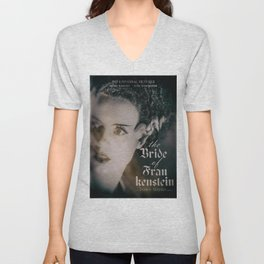 The Bride of Frankenstein, vintage movie poster, Boris Karloff cult horror Unisex V-Neck