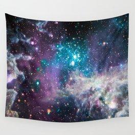 Lavender Teal Star Nursery Wall Tapestry