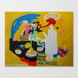 FACES Mac Miller Canvas Print