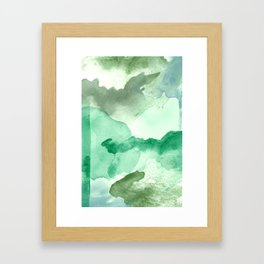 Meadow Pool Abstract Framed Art Print
