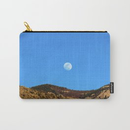 Moon Rising Over the Sandia Mountains 2 Carry-All Pouch