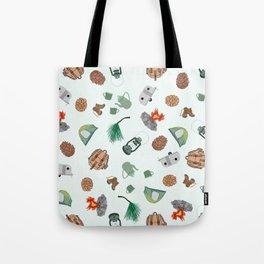 Rustic Campsite Illustration Tote Bag