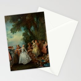 """Nicolas Lancret """"Dance before a Fountain"""" Stationery Cards"""