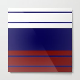 TEAM COLORS 9...navy and maroon Metal Print