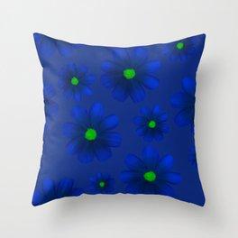 Blue Flowers Beautiful Pattern Throw Pillow