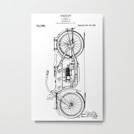 Harley Patent: Model W Metal Print
