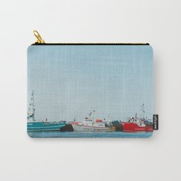 Boats and Turquoise sky Carry-All Pouch