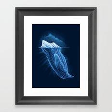 The Iceberg Penguin Framed Art Print