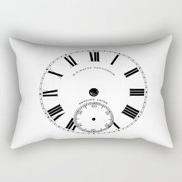 Time goes by vintage clock Rectangular Pillow