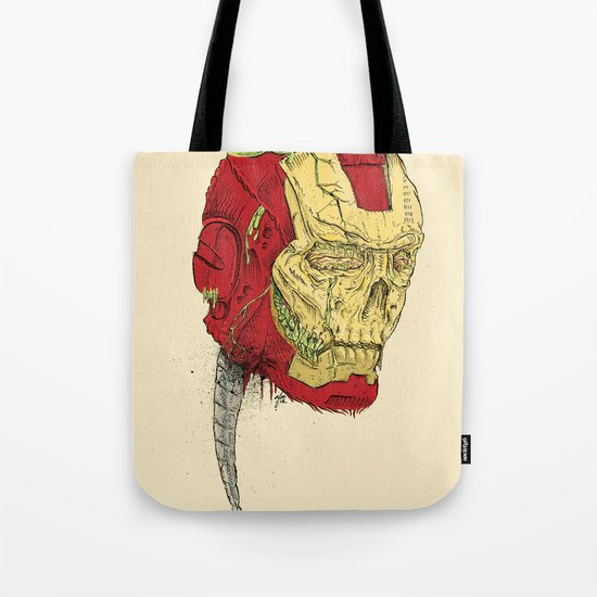 The Death of Iron Man Tote Bag