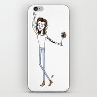 tim burton iPhone & iPod Skins featuring Tim Burton Harry Styles by jerrh