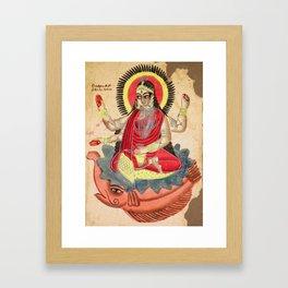 The Goddess Ganga - Vintage Indian Art Print Framed Art Print