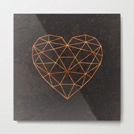 COPPER HEART Metal Print