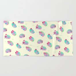 Water Bear(Tardigrades) Beach Towel