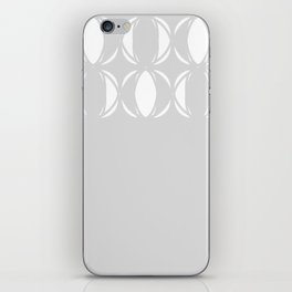 Abstract pattern - gray and white. iPhone Skin