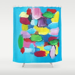 Colorful Day Abstract Shower Curtain