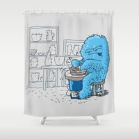 potter Shower Curtains featuring Hairy Potter by awkwardyeti
